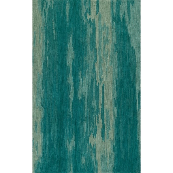 Shop Addison Elyria Abstract Stripes Shades Of Turquoise Area Rug 8