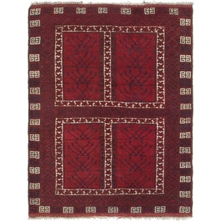 Hand Knotted Balouch Semi Antique Wool Runner Rug - 4' 6 x 5' 8