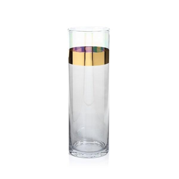Shop 1175 Tall Veneto Luster Glass Vase Hurricane Gray And
