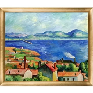 Paul Cezanne 'The Gulf of Marseilles' Hand Painted Oil Reproduction