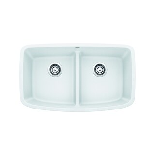 Blanco SILGRANIT Granite Composite Sink VALEA® Equal Double Bowl with Low-Divide White