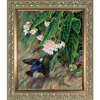 Marianne North 'Brazilian Flowers' Hand Painted Oil Reproduction
