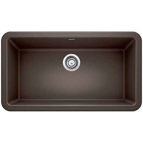 "Blanco SILGRANIT Granite Composite Sink IKON® 33"" Apron Front Café Brown"