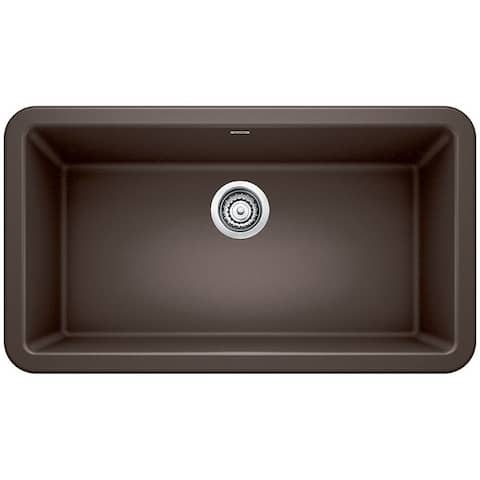 "Blanco SILGRANIT Granite Composite Sink IKON® 33"" Apron Front Café Brown"