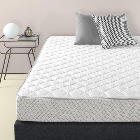 Priage Foam and Fiber Quilted Mattress Pad for up to 8 Inch Mattress profiles, Mattress Topper Rejuvenator, Full Size