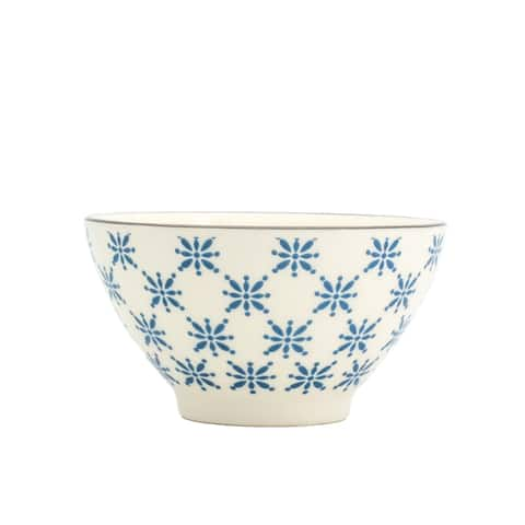 Euro Ceramica Sintra Soup/Noodle Dining Bowls, Set of 8