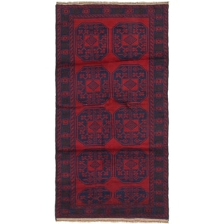 Hand Knotted Balouch Wool Area Rug - 3' 5 x 6' 7