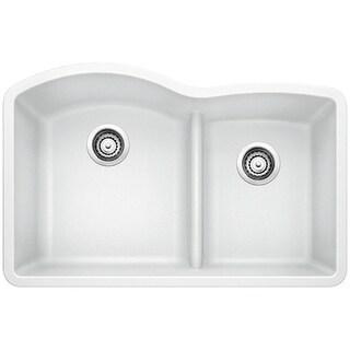 Blanco SILGRANIT Granite Composite Sink DIAMOND 1-3/4 Bowl with Low-Divide White