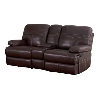 Abbyson Manchester Glider Loveseat with Console