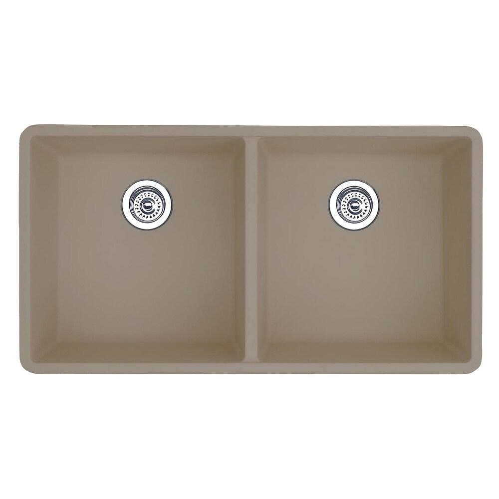 Blanco SILGRANIT Granite Composite Sink PRECIS Equal Double Bowl Truffle