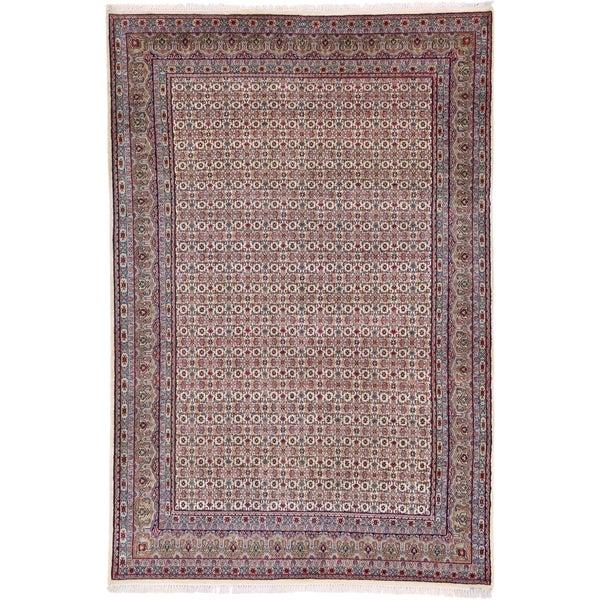 Hand Knotted Bidjar Wool Area Rug - 6' 5 x 9' 7