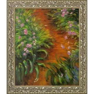 Claude Monet 'Irises' Hand Painted Oil Reproduction