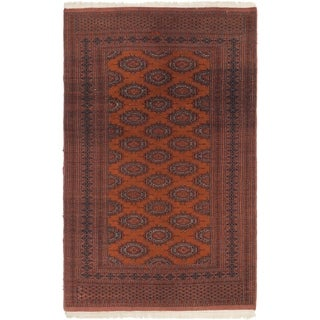Hand Knotted Bokhara Semi Antique Wool Area Rug - 4' x 6' 6