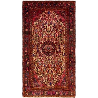 Hand Knotted Borchelu Semi Antique Wool Area Rug - 5' 4 x 9' 9