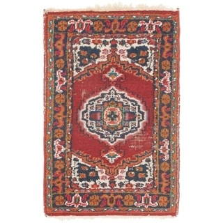 Hand Knotted Bidjar Antique Wool Area Rug - 1' 10 x 2' 10