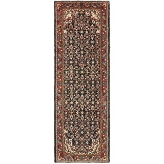 Hand Knotted Borchelu Semi Antique Wool Runner Rug - 3' 6 x 10' 3