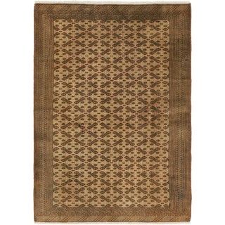 Hand Knotted Bokhara Semi Antique Wool Area Rug - 4' 4 x 6' 4