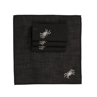 Happy Halloween 20 by 20-Inch Napkins, Set of 4, Black