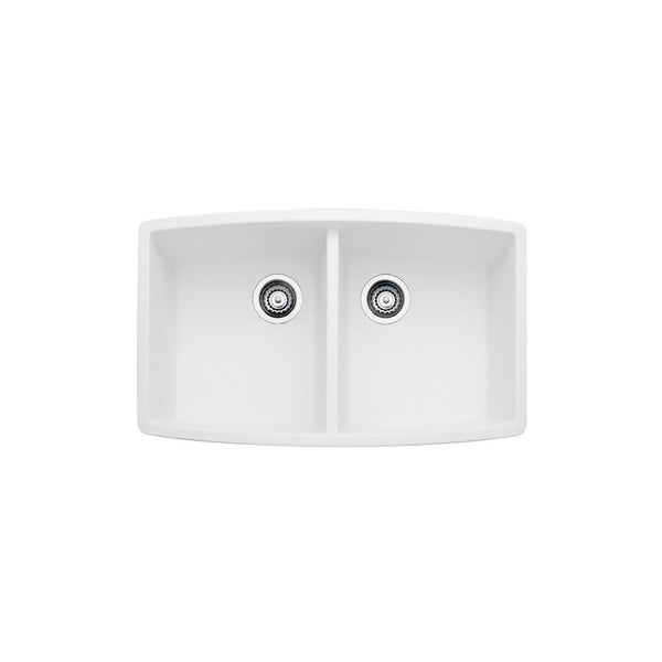 Blanco SILGRANIT Granite Composite Sink Blanco PERFORMA Equal Double Bowl  White