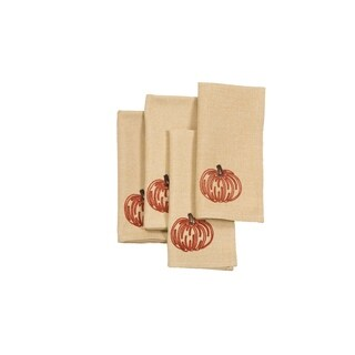Pumpkin Party Fall 20 by 20-Inch Napkins, Set of 4