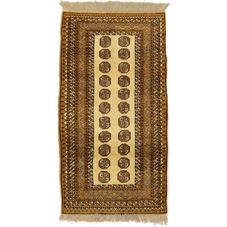 Hand Knotted Bokhara Wool Area Rug - 3' 6 x 6' 6