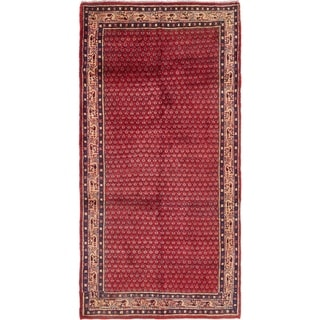 Hand Knotted Botemir Semi Antique Wool Runner Rug - 3' 9 x 7' 7