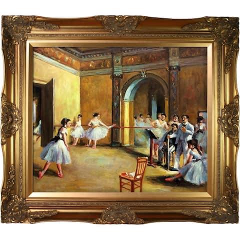 Edgar Degas 'Dance Studio at the Opera' Hand Painted Oil Reproduction