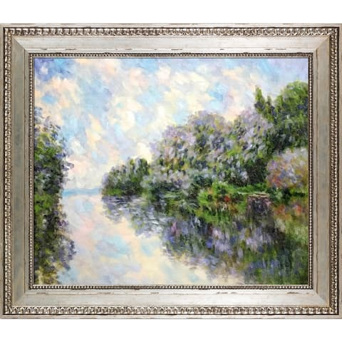 Claude Monet 'The Seine near Giverny' Hand Painted Oil Reproduction