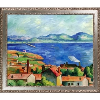 Link to Paul Cezanne 'The Gulf of Marseilles' Hand Painted Oil Reproduction Similar Items in Canvas Art