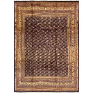 Hand Knotted Botemir Semi Antique Wool Area Rug - 7' 5 x 10' 7