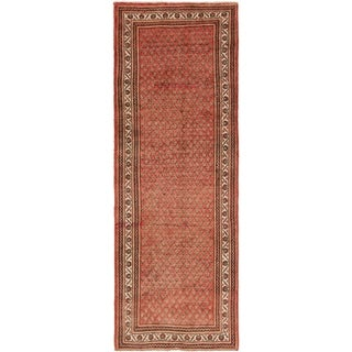 Hand Knotted Botemir Semi Antique Wool Runner Rug - 3' 6 x 9' 10