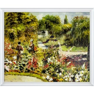 Pierre-Auguste Renoir 'The Garden at Fontenay, 1874' Hand Painted Oil Reproduction