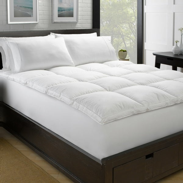 """Luxury 2"""" Loft White Down Plush Feather Bed. Opens flyout."""