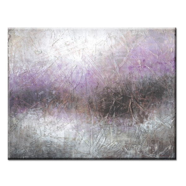 Haze Grey Purple Abstract Gallery Wrapped Canvas Art By Norman Wyatt Home On Sale Overstock 23095106