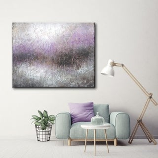 Link to Haze Grey/ Purple Abstract Gallery Wrapped Canvas Art by Norman Wyatt Home Similar Items in Canvas Art