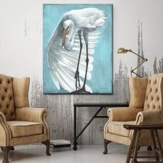 Porch & Den 'Coastal Cloak' Gallery Wrapped Canvas Art