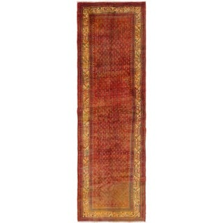 Hand Knotted Botemir Semi Antique Wool Runner Rug - 3' 5 x 10' 3
