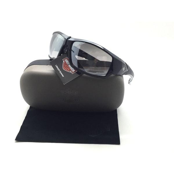 84bb2c9d27dfb Shop Harley-Davidson Men s Lifestyle Sunglasses Black Frames   Silver Flash  Lens - Free Shipping Today - Overstock - 23095279