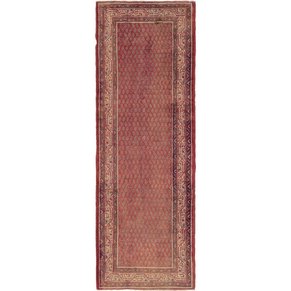 Shop Hand Knotted Botemir Semi Antique Wool Runner Rug 3