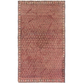 Hand Knotted Botemir Semi Antique Wool Area Rug - 3' 2 x 5' 6
