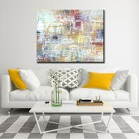 "Norman Wyatt Home ""Rejoice"" Multi Colored Abstract Gallery Wrapped Canvas Art"