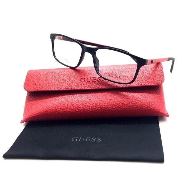 09021faa433 Guess Eyeglasses GU1872 GU 1872 002 Black Red Full Rim Optical Frame 53mm