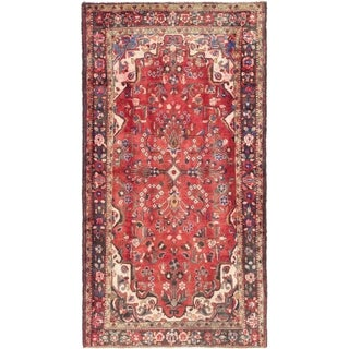 Hand Knotted Borchelu Semi Antique Wool Area Rug - 5' 9 x 9' 4