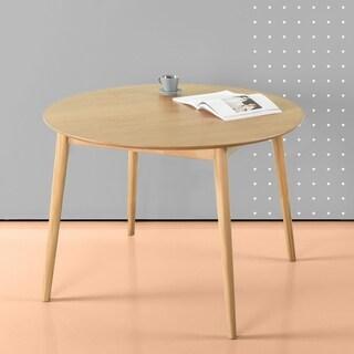 Priage Mid-century Pine Round Dining Table