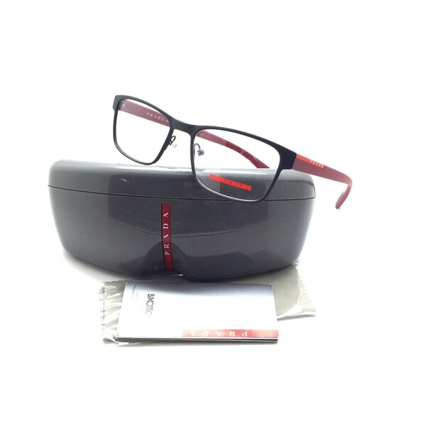 d418edc503a Shop PRADA VPS 50G TFZ-1O1 53mm Gray Red Men s Eyeglasses Frame ...