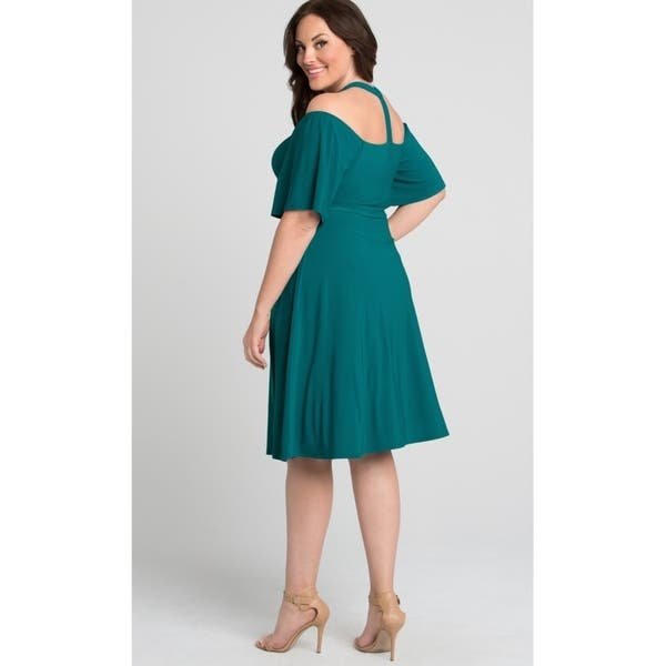 Shop Kiyonna Plus Size Women\'s Elise Flutter Dress - Free ...