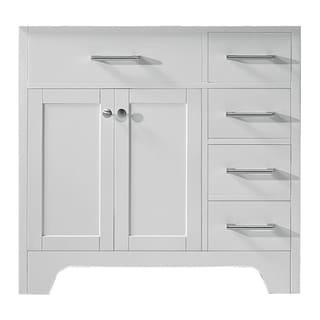 """Exclusive Heritage 36"""" Single Sink Bathroom Vanity Base in White"""