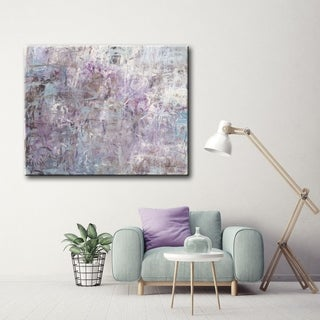 Link to Lilacs and Lace  Grey/ Purple Abstract Gallery Wrapped Canvas Art by Norman Wyatt Home Similar Items in Canvas Art