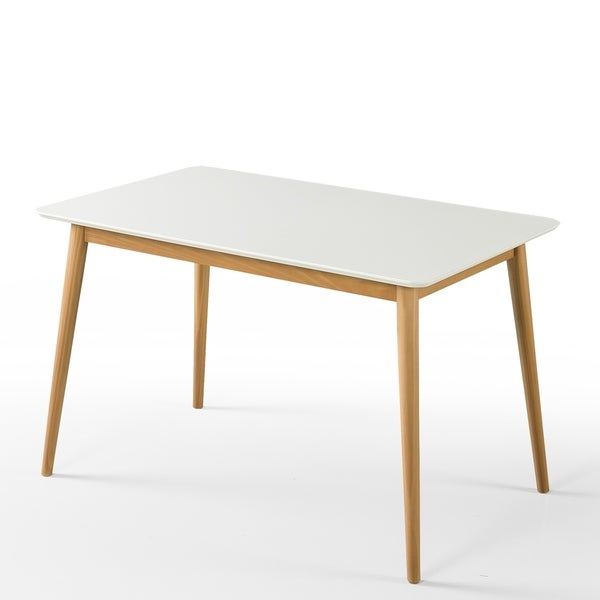 Shop Priage By Zinus Farmhouse Wood Dining Table: Shop Priage By Zinus Mid-Century Wood Dining Table, White