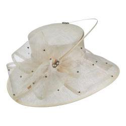 Women's Scala LD80 Big Brim Hat with Rhinestone Ivory